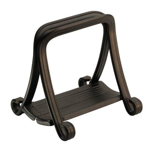 - InterDesign York Grip Napkin Holder for Kitchen Tables -  Paper Napkin Stand, Bronze