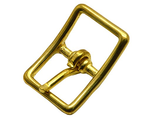 Okones Pack of 4,1-1/4''(32mm) Inner Width,Solid Brass Rectangle Buckle for Straps Bags Belting Leathercarft (insides 1-1/4'')