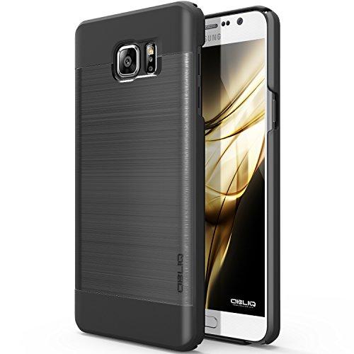 Metallic Titanium Finish - Galaxy Note 5 Case, OBLIQ [Slim Meta][Titanium/Black] - Thin Slim Fit Bumper Metallic Polycarbonate Finish All Around Protection Hard Case for Note 5