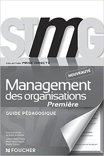 Livres gratuits Prise directe Management des organisations 1re Bac STMG Guide pédagogique epub pdf