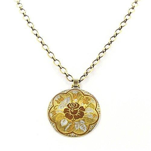 Spanish Rose Chain Pendant Necklace