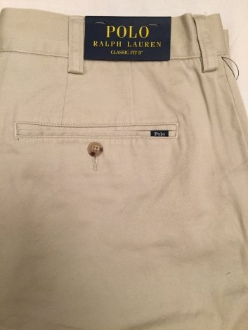 Polo Ralph Lauren Flat Front Chino Short (Polo Beige, 36)