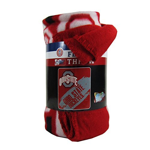 The Northwest Company Officially Licensed NCAA Painted Fleece Throw Blanket - Ohio State Buckeyes