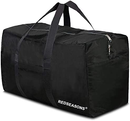 REDSEASONS Extra Large Duffle Bag Lightweight, 96L Travel Duffle Bag Foldable for Men Women, Black