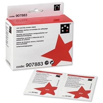 5 Star 907883 - Juego de limpieza para pantallas con toallitas húmedas y secas (20