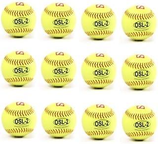 OSL-2 palla da competizione softball, t 12'', c giallo 12 pz t 12''