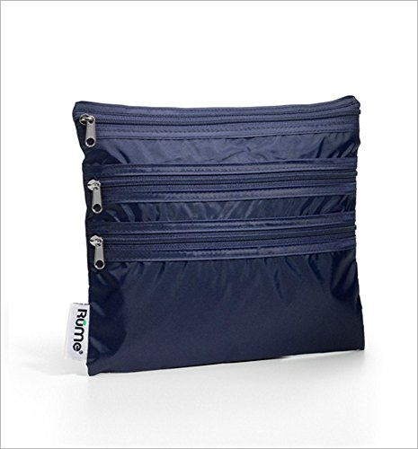 RuMe Bags Baggie All Zippered Organizer (Navy)