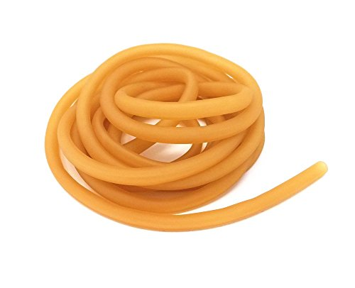 Natural Rubber Latex Tubing (Honbay 3 Meters 6x9mm Natural Latex Rubber Band Tube for Slingshot Catapult Elastic Parts Outdoor Hunting)