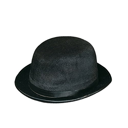 Club Pack of 12 Black Bowler/Derby Hats Halloween