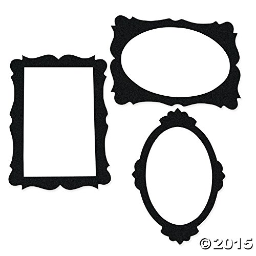 Black Picture Frame Cutouts Pcs