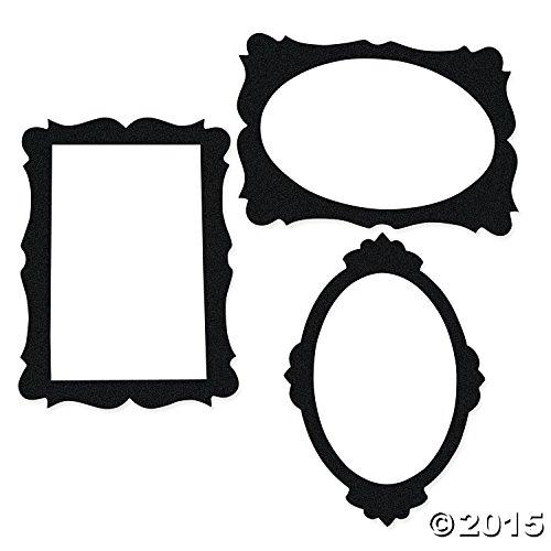 Black Picture Frame Cutouts Pcs