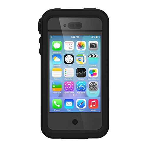 Catalyst iPhone 4 / 4s Case Waterproof Impact Protection, High Touch Sensitivity ID, Military Grade Drop and Shock Proof Premium Material Quality, Slim Design, Stealth Black