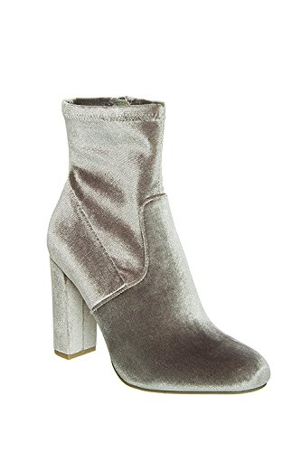 Edit Grey Velvet Boot Ankle Steve Madden CawH1qRF