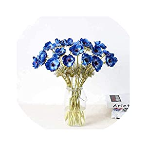 24pcs Artificial Anemone Flowers DIY Wedding Bride Bouquets Home Vase Decoration Real Touch PU Fake Flower 11 Colors 26