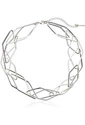 "Steve Madden Sporty Chic Geometric-Link Necklace, 16"" + 3"" Extender"