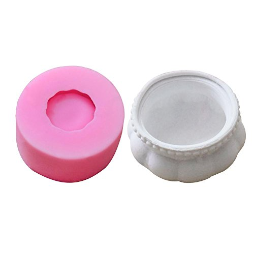 Cute Succulent Plant Flower Pot Silicone Mold, Flower Bonsai DIY Ashtray Candle Holder Mould, Perfect for Handmade Candy/Chocolate/Ice/Soap