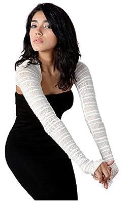 Sexy Shadow Stripe Skinny Shrug by KD Dance New York Stretch Knit Made in USA