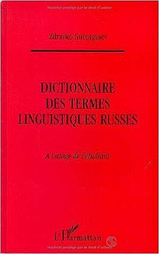 Livre gratuits Dictionnaire des termes linguistiques russes à l'usage de l'étudiant pdf, epub