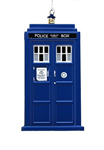 Kurt Adler 4.5-inch Doctor Who Tardis Blow Mold Plastic Ornament