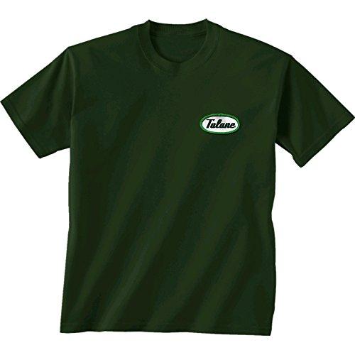 (New World Graphics NCAA Tulane Green Wave Mechanic Short Sleeve Tee, XX-Large, Forest Green)