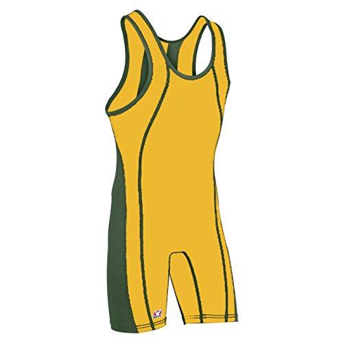 Singlet Custom Wrestling (Brute Maverick Wrestling Singlet - Custom Color -:ATH GOLD/HUNTER - YS)