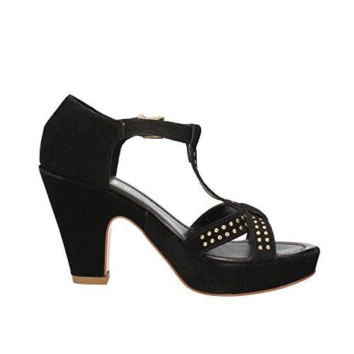 KEYS sandali donna nero camoscio AG773