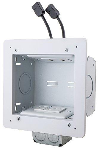 Bryant Electric JAV62MKIT Fptv Connection Enclosure Kit Heavy Duty Low Profile Flat Panel Tv In-Wall Av Media Kitwhite -