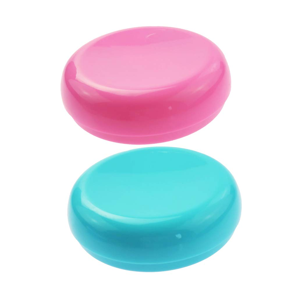 Baoblaze 2 Pieces Magnetic Sewing Pin Cushion Holder Pin Storage Case for Quilting Sewing Craft