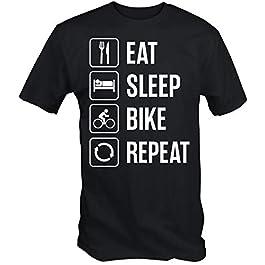 6TN Mens Eat Sleep Bike Repeat T Shirt