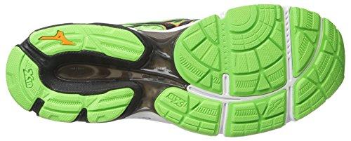 Mizuno Hombre Wave Catalizador Running Shoe Green Gecko-Clownfish