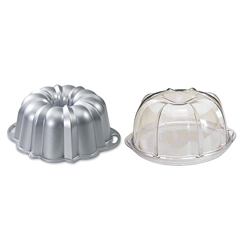Nordic Ware Platinum Collection Original 10- to 15-Cup Bundt Pan and Deluxe Bundt Cake Keeper -