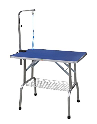 Go Pet Club Heavy Duty Stainless Steel Pet Dog Grooming Table with Arm, 30-Inch