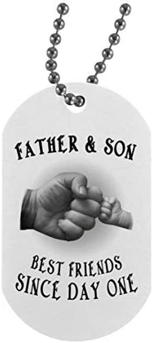 to My Son Dog Tag Necklace Father & Son Best Friends Since