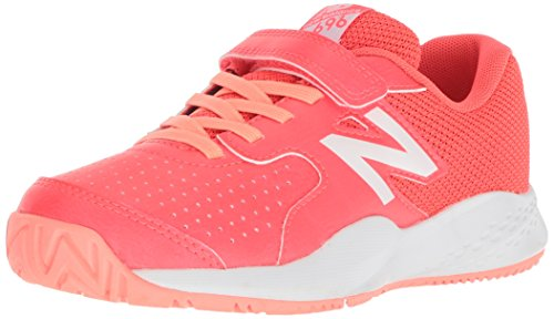 New Balance Girls' 696v3 Tennis Shoe, Pink/White, 11.5 W US Little Kid