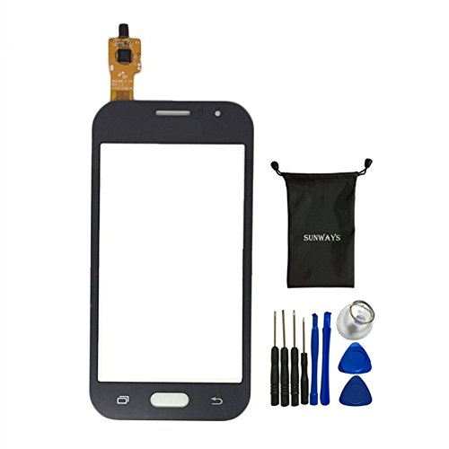 Sunways Touch Digitizer Glass Lens Screen Replacement For Samsung Galaxy j1 Ace j110 With device opening tools(Black)