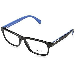 Prada PR07PV Eyeglass Frames 1BO1O1-5617 - Matte Black PR07PV-1BO1O1-56