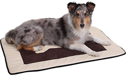 Knuffelwuff 12674 Universal Hundematte Fim Exclusive für Haus Garten Auto viel mehr, XL, 100 x 72 cm, grau/schwarz