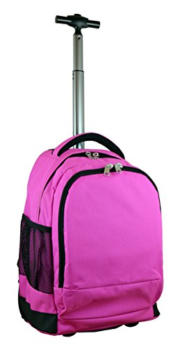 Denco Expedition Wheeled Backpack, 19-inches, Pink by Denco
