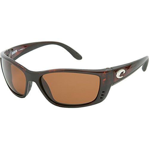 Costa Del Mar Fisch Sunglasses Black / Copper 580Glass Tortoise Frame Copper