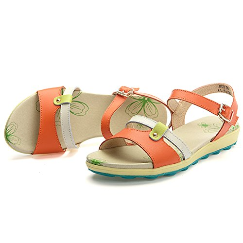 VWU - Sandalias de vestir para mujer naranja