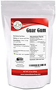 Guar Gum Powder Gluten Free (10 Oz)- USA Packaged & Filled - Great for Low-Carb, Keto, Ice Cream Recipes - Dedicated Gluten & Nut Free Facility