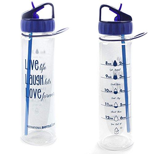 Blue Live Love Laugh Motivational Bottle®