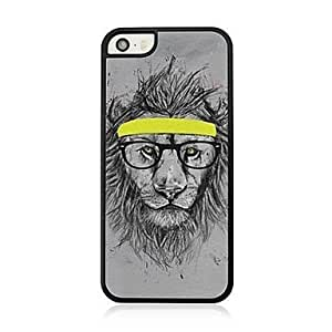 LCJ Sketch the Lion Leather Vein Pattern Hard Case for iPhone 5/5S by ruishername