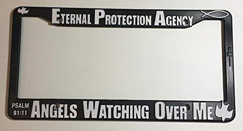 (Yohoba Black License Plate Frame Eternal Protection Agency Auto)