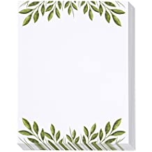 48 Pack Leaf Themed Stationery Paper - Letterhead - 8.5 x 11 Inch Letter Size Sheets