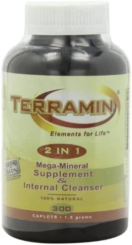 Ion-Min, Terramin 2 in 1, Mega-Mineral Supplement & Internal Cleanser Caplets, 1.5-Grams, 300-Count