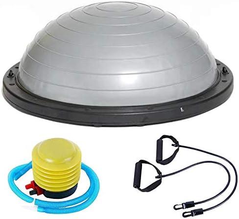 WTYD アウトドアスポーツ用品 防爆ヨガボールスポーツフィットネスボールバランスボール、直径:60 cm アウトドアライフのために 銀