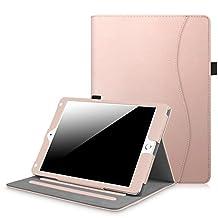 Fintie New iPad 9.7 Inch 2017 / iPad Air 2 / iPad Air Case - [Corner Protection] Multi-Angle Viewing Folio Stand Cover w/ Pocket, Auto Wake / Sleep for Apple iPad 2017 Model, iPad Air 1 2 (Rose Gold)