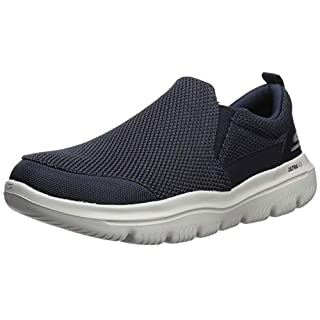 Skechers Men's GO Walk Evolution Ultra-Impeccable Sneaker, Navy/Gray, 11.5