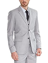 Hanayome de los hombres business Suit Causal Dos Botones Gris Solid muesca  solapa Separate Chaleco b17ef1a2dff